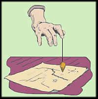 ردیاب گنج از روی نقشه با شاقول